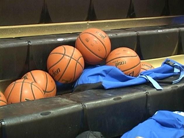 bunch of basketballs