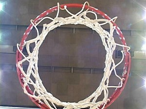 basketball hoop look up